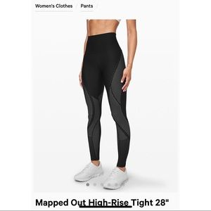 Mapped Out High-Rise Tight